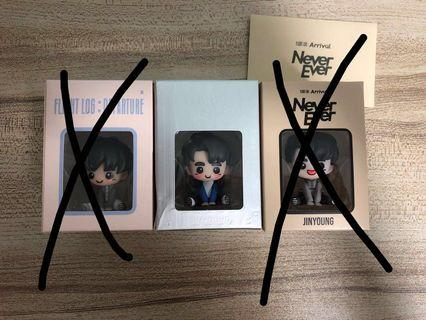 {💚WTS} UNSEALED GOT7 JINYOUNG flight log baby figure series