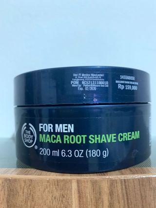 The body shop shaving cream