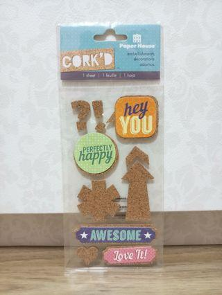 Paper House 'Hey You' Cork'd Embellishments