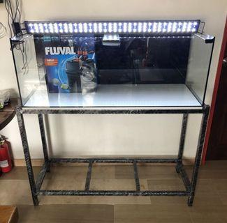 New 120 cm by 45cm by 45cm glass fish tank aquarium with delivery