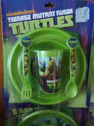 Ninja Turtle Plastic Cutlery Set