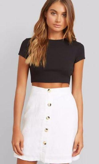 KOOKAI Spotif Crop Top - Black - Size 1