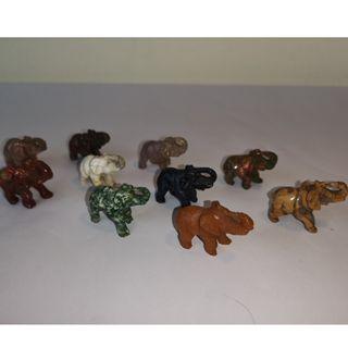 🚚 Nephrite Hand-carved Elephant (set of 10)