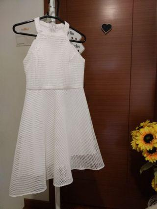 White Lace Dress (Handsewn by tailor)