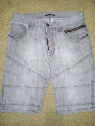 SAXONY size 30 men's  Grey Denim utility shorts