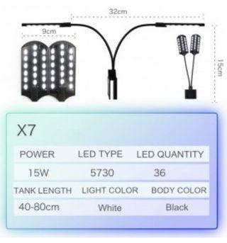 $15 AST X7 Aquarium LED Lamp for 40-80L aquarium glass tank