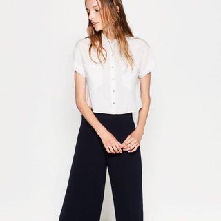 Structured Zara Crop Shirt