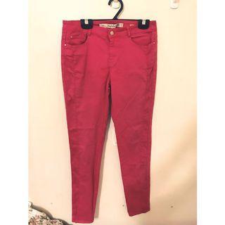 🚚 ZARA 超彈性 褲子 L 穿起來非常修飾 顯瘦❤️