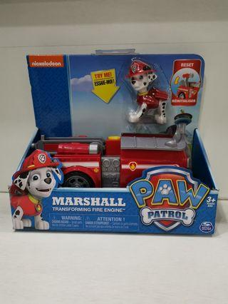 Brand new in box Nickelodeon Paw Patrol Marshall Transforming Fire Engine