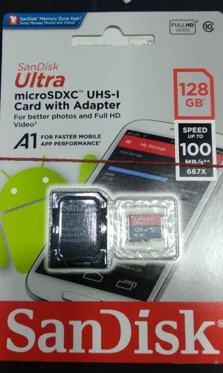 🚚 Original SanDisk 128GB microSD 100MB/s