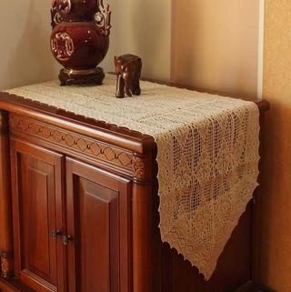 Vintage Cotton Wool Table Runner/Table Cloth