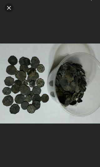 Johor tin coins 250pcs. Used in malaysia singapore in 17th century