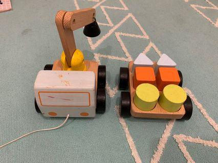 Ikea Wooden Toy crane magnet