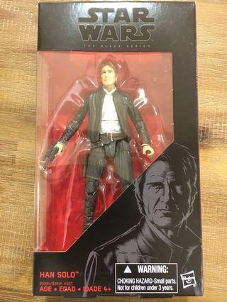 Star Wars Black Series 6 inch Han Solo from TFA! Priced to Sell!!