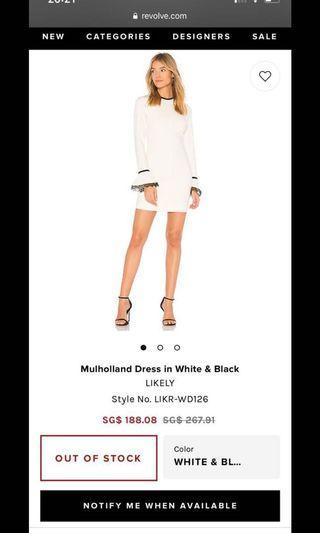 Revolve Likely white Black Dress