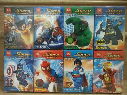 Marvel DC Superheroes - Wolverine Thor Hulk Batman Captain America Spiderman Superman Ironman