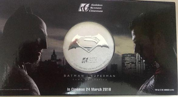 Limited edition of Batman vs Superman medallion