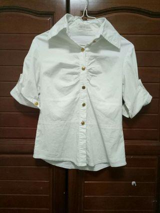 🚚 白上衣 白襯衫 五分袖 正裝上衣