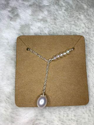 原創天然珍珠s925純銀項鏈