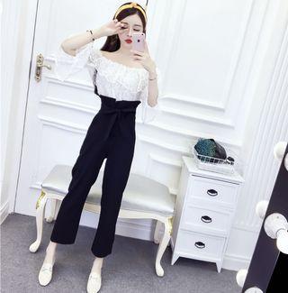 Fashion Black bud pants