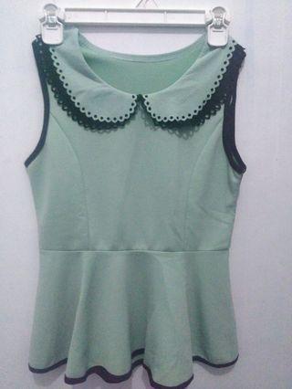 Green Peplum Top