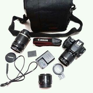 Canon EOS 100D TOUCH SCREEN + 3 LENSA
