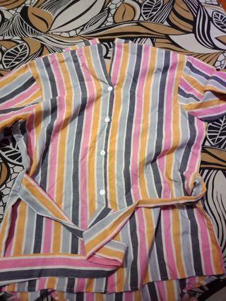 Blouse Wanita // Stripe Top