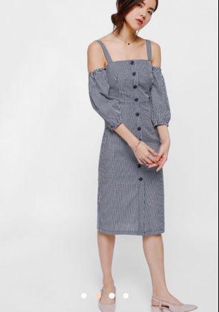 Love bonito - gingham dress off shoulder