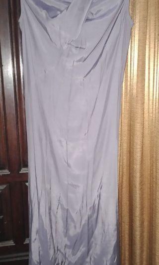 Long dress, gaun, satin bridal