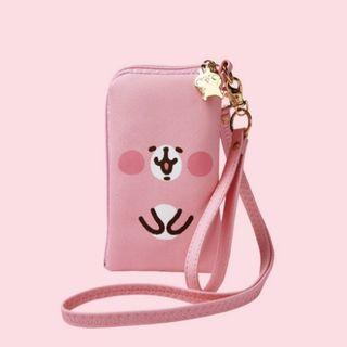 正版授權 卡娜赫拉kanaheis掛頸手機包 粉紅兔兔