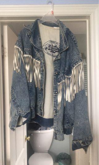 Jean fringe jacket