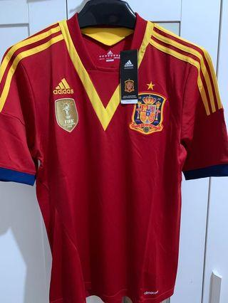 ADIDAS SPAIN HOME JERSEY FIFA CONFEDERATIONS CUP 2013