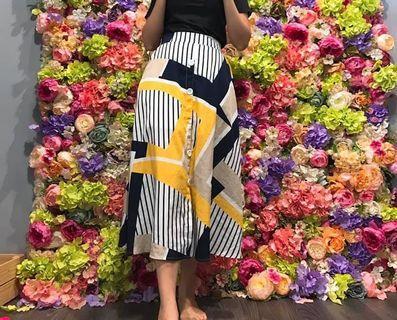 🚚 33.二手🍭藍黃裙子
