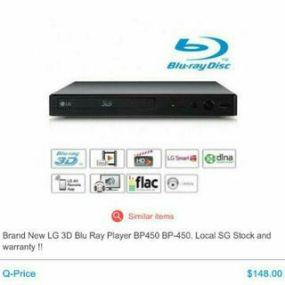 [RP$149] Brand New LG Wired Streaming 3D Blu-Ray Disc / DVD Player With 1 Year Warranty