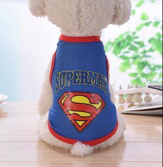 🚚 Pet Cloth Cat Dog Rabbit Cloth Superman PC067