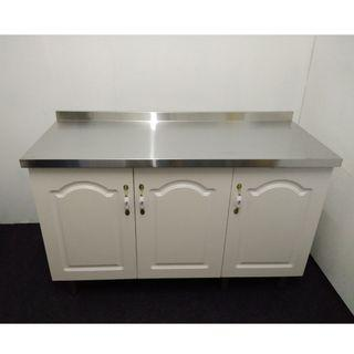 Kitchen Cabinet +Stainless Steel Top with 3 doors