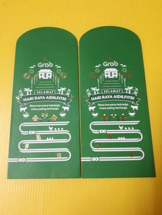 Angpao packet sampul duit raya Grab car exclusive