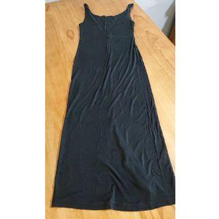 None brand mid length black dress $2