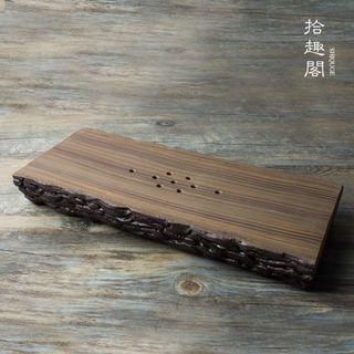日式純手工粗陶茶盤茶承壺托茶台 (全新)