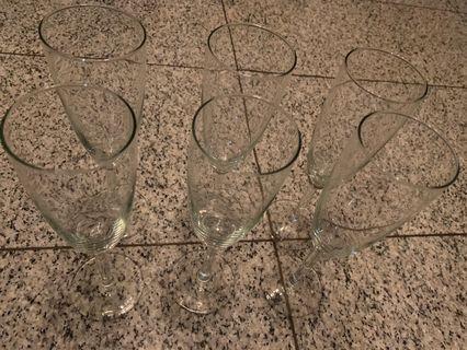 White wine glass 6pcs
