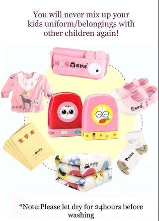 Name Stamp for Uniform clothes bags shoes books