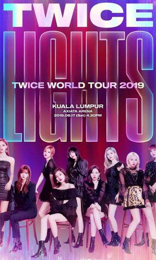 Ticketing service TWICELIGHTS in KL