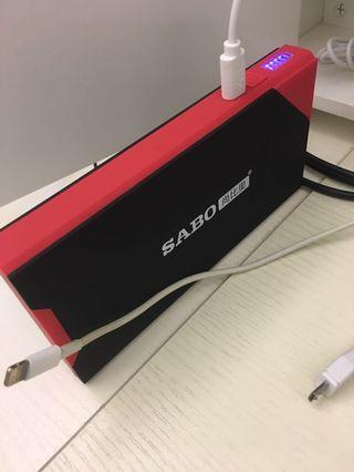 Mini compact battery starter with PowerBank