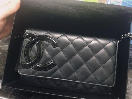 🚚 Chanel woc 康朋 鏈條包 黑銀 螢光粉內裏