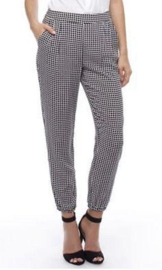 Bardot Black/White Check Pants