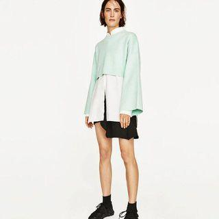 Zara Cropped Jumper - Mint