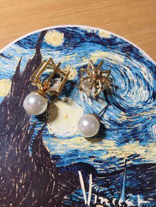 大珍珠*精緻浮誇耳環