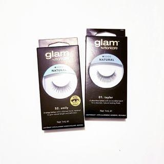 Glam By Manicure Lightweight Natural Hypo-allergenic False Fake Lashes