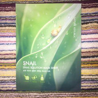Nature Republic Snail Solution Mask Sheet