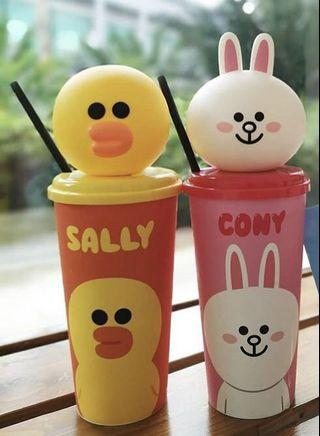 LINE FRIENDS Cony / Sally drinking cup